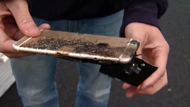 Iphone exploderade och fattade eld i byxfickan