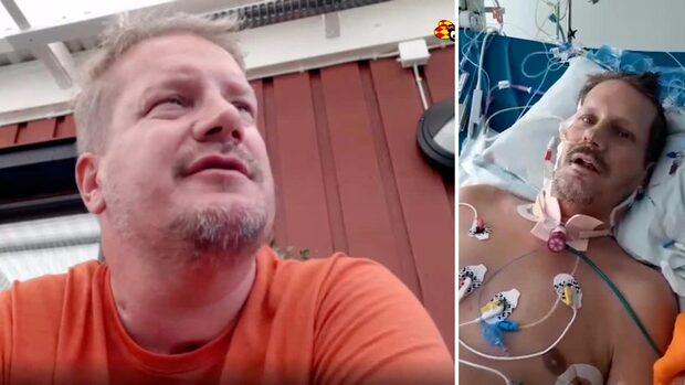 Läkarna: Han är Sveriges sjukaste coronapatient
