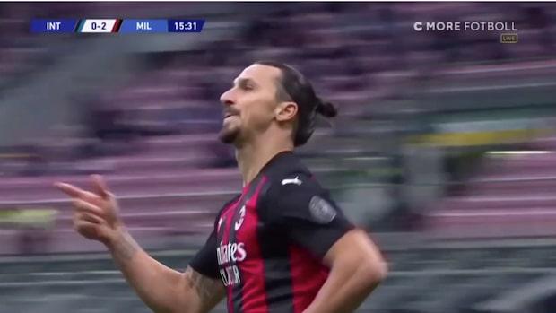 Zlatans nya jättesuccé – tvåmålsskytt i derbyt mot Inter
