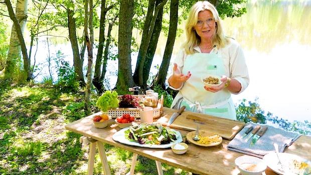 Somrig sallad med svenska lupinbönor