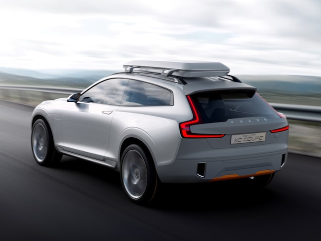 Volvos första elbil ska byggas på SPA-plattformen och spås likna nya XC60. På bilden: Volvo Concept XC Coupé.
