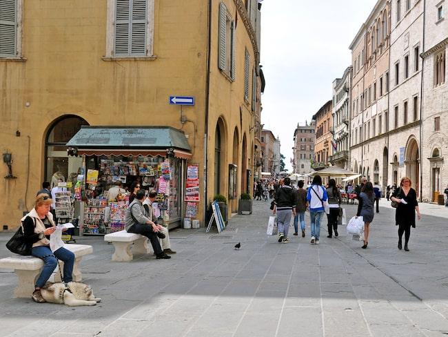 Chokladstaden Perugia har typisk italiensk charm.