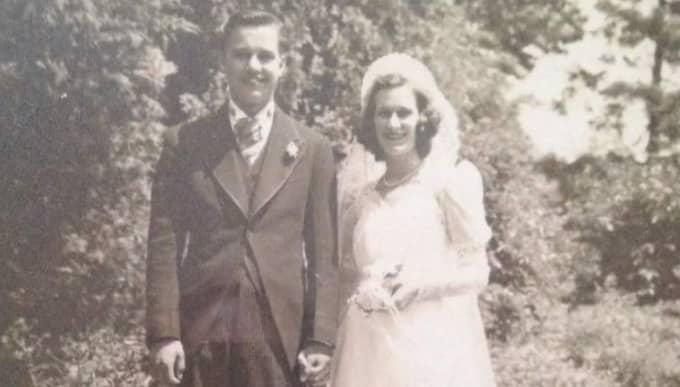 Paret gifte sig 1940.