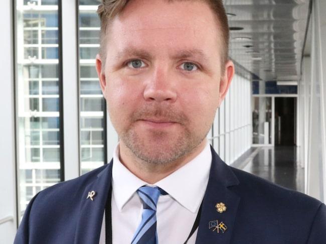 Centerpartiets Europaparlamentariker Fredrick Federley.
