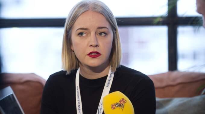 Hanna Cederin, förbundsordförande för Ung Vänster. Foto: Sven Lindwall