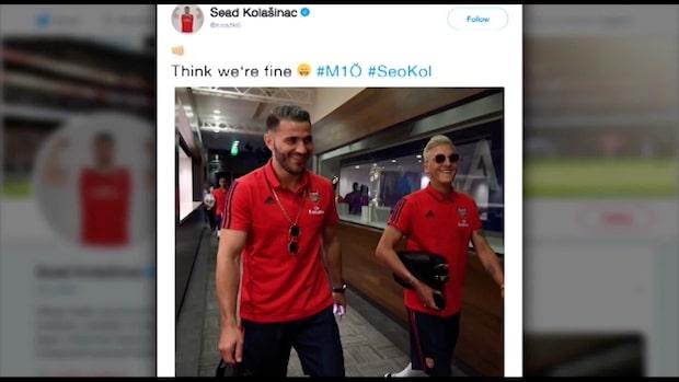 Arsenals Mesut Özil och Sead Kolasinac utsattes för ett rånförsök