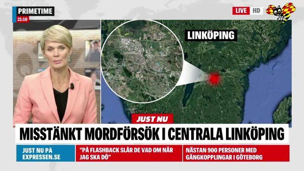 Misstänkt mordförsök i centrala Linköping