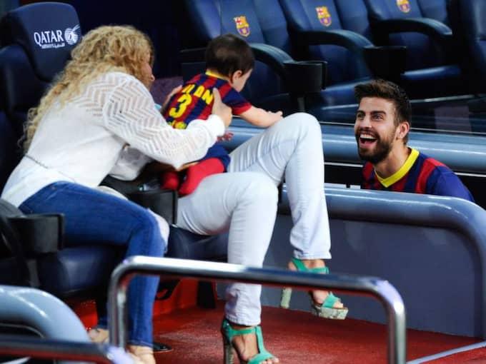 Shakira och Gerard Pique har sedan tidigare sonen MIlan. Foto: David Ramos