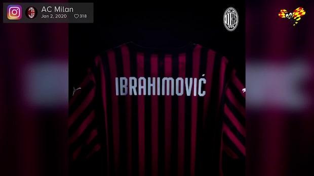 Ibrahimovic har landat i Milano – poserar med nya tröjan