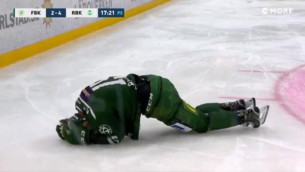 Skräckbilder för Färjestad – Rydahl i stora smärtor på isen