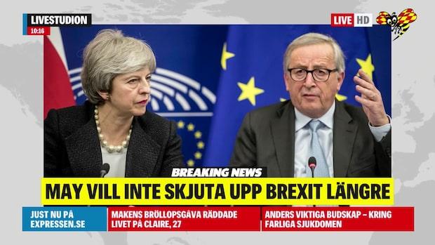 May vill inte skjuta upp brexit någon längre tid