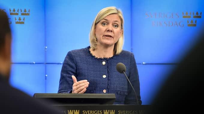 Finansminister Magdalena Andersson. Foto: ALEXANDER LARSSON VIERTH/TT / TT NYHETSBYRÅN
