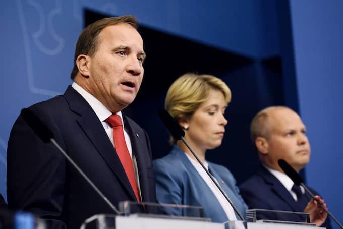 Statsminister Stefan Löfven ombildar regeringen efter Transsportstyrelsens it-läcka. Foto: ERIK SIMANDER/TT / TT NYHETSBYRÅN