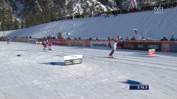 Här krossar Stina Nilsson norskorna - tar ny sprintseger inför OS