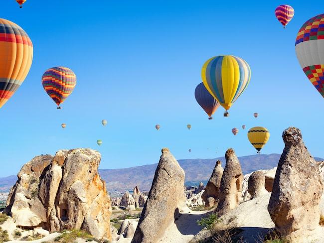 Varmluftsballonger kan vara jobbiga om du är höjdrädd, även om du är i Turkiet.