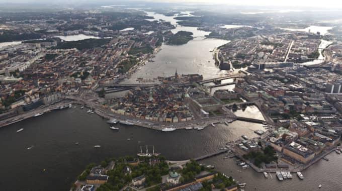 Befolkningen ökade med 103 662 personer och var vid årets slut 9 851 017 personer. Foto: Jocke Berglund/Airpictures
