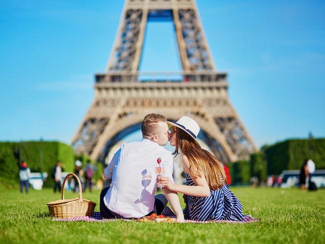 I topp återfinns kärlekens stad: Paris.