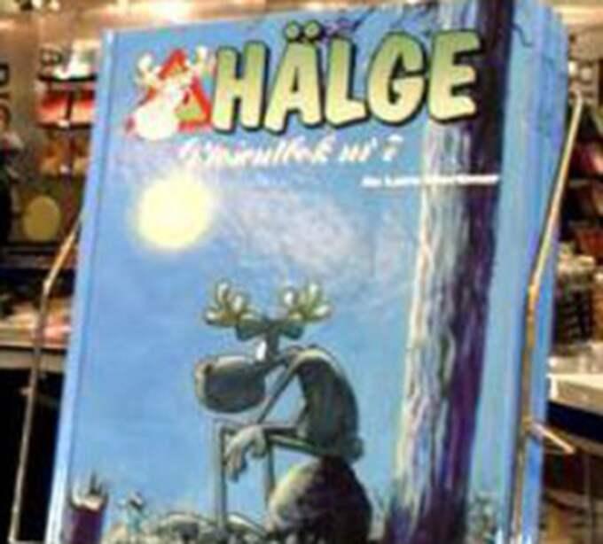 """På det här """"Hälge""""-omslaget är sitter serieälgen på ett nästan identiskt sätt som på whiskyetiketten. Foto: Leif Gustafsson"""