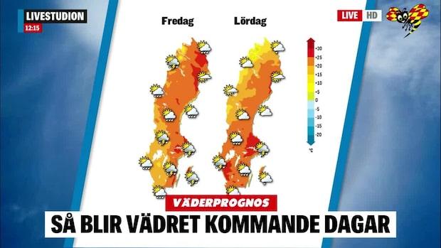 Väderprognos: Värmebölja under nationaldagen