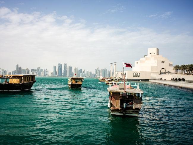 Huvudstaden Doha i Qatar är ett hett resmål i arabvärlden just nu.