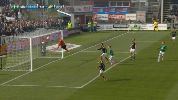 Stefan Karlsson kvitterar för Jönköpings Södra med en lobb