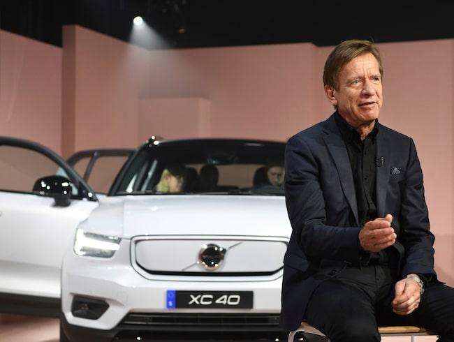 Volvo Cars vd Håkan Samuelsson, här vi lanseringen av elbilen XC40, säger att laddhybriden ska försvinna ur deras sortiment.