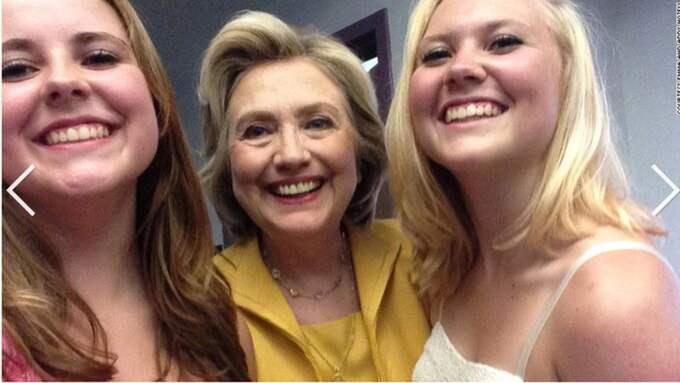 ... men bestämt sig för Hillary Clinton. Foto: Skärmdump från Addy och Emma Nozells Twitter