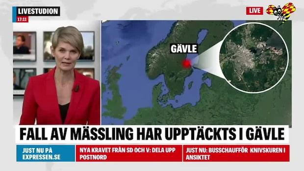 Fall av mässlingen har hittats i Gävle