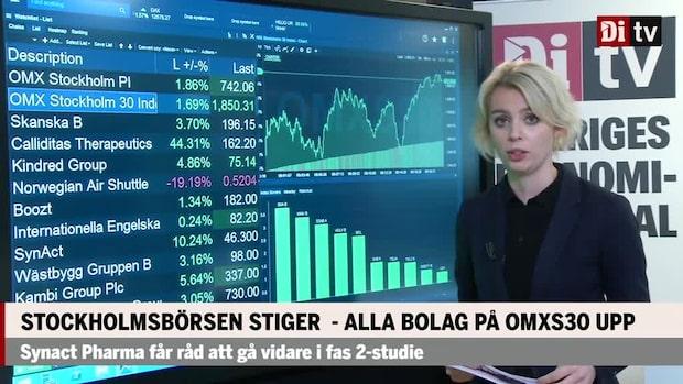 Marknaden: Stockholmsbörsen upp 1,7% – alla bolag på OMXS30 upp