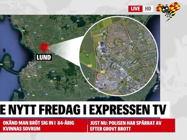 Misstänkt grovt brott i Lund – bostad avspärrad