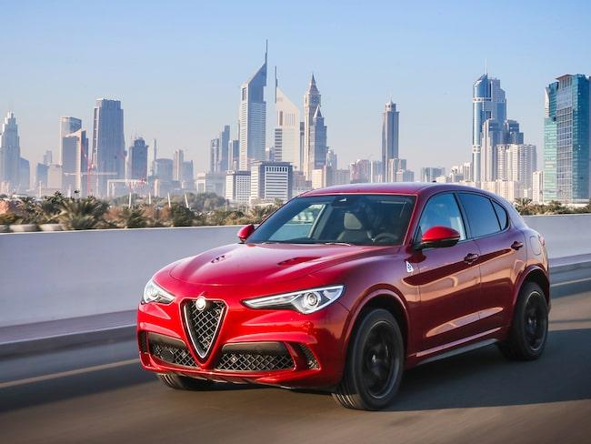 Alfa Romeo Stelvio Quadrifoglio testkörs nu i Dubai.