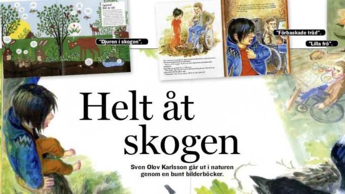 Trädkramare. det finns ett skatbo i toppen som pappa vill fälla. Foto: Ill: Katarina Strömgård