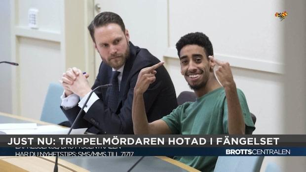 """Polisen om dödshoten mot trippelmördaren: """"Är en dödsdom"""""""
