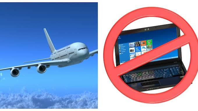 I mars införde USA elektronikförbud på flyg från åtta länder. Foto: Colourbox