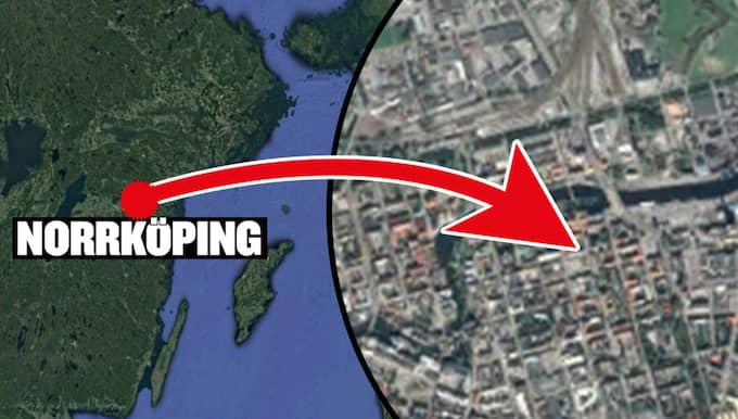 Under söndagskvällen vid 18.15-tiden fick polisen i Norrköping in larm ett pågående större bråk i centrala Östantill i Norrköping. Foto: GOOGLEMAPS