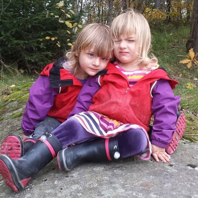 Familjen Majunie har fått stänga av respiratorn för båda sina döttrar – Nova och Saga. Foto: Privat