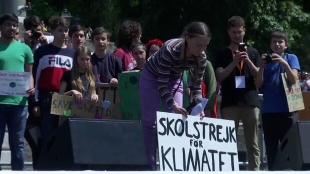 """Greta Thunberg talade i Rom: """"Elva år tills katastrofen blir oundviklig"""""""