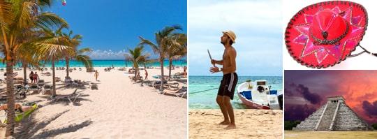 Mexiko är mytomspunna mayaruiner, barriärrev och närliggande paradisöar.