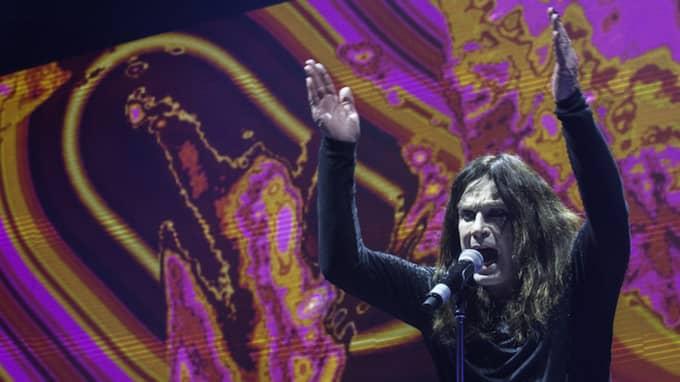 Black Sabbath gjorde sin sista svenska spelning på Friends arena. Foto: Erik Nylander/TT