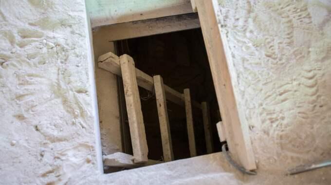 Ingången till tunneln. Foto: James Breeden/Splash News