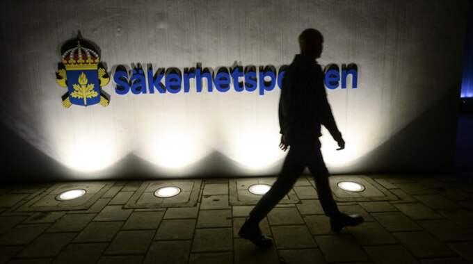Säpo vill inte gå in på vilka detaljer de känner till i fallet. Foto: Fredrik Sandberg/TT