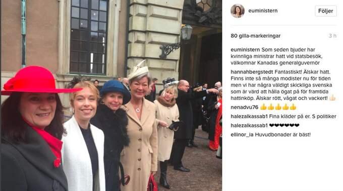 Ann Lindes instagraminlägg.