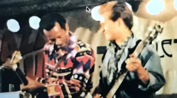 Peter Jezewski från The Boppers gjorde fyra konserter med Chuck Berry 1989. Foto: PRIVAT