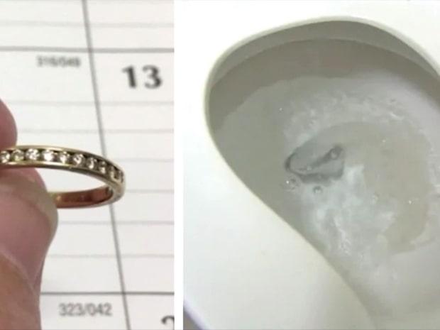 Spolade ner ring i toaletten - fick tillbaka den 9 år senare