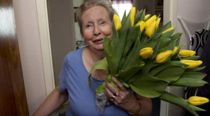 """MITT I UPPSTÅNDELSEN. Margareta Winberg, 67, har haft det hektiskt sedan hon blev felinbjuden till den officiella middagen: """"Jag trodde att jag skulle bli tokig en dag. Jag fick omkring 40 samtal från hela världen"""", säger hon. Foto: Sven Lindwall"""