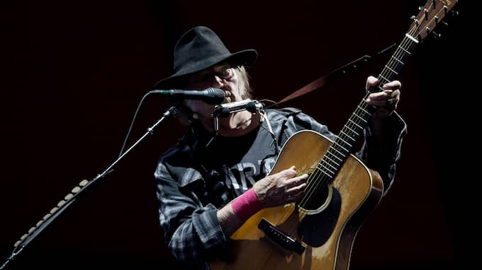 Neil Young. Foto: THOMAS BORBERG / AP TT NYHETSBYRÅN