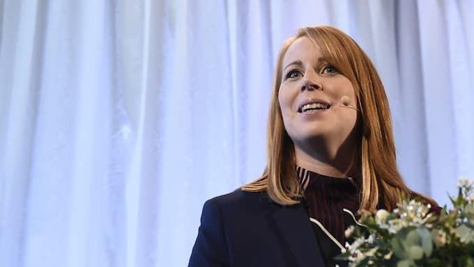 Den stora skrällen i mätningen står Centerpartiet, med partiledaren Annie Lööf för. Foto: Foto: Stina Stjernkvist/Tt / TT NYHETSBYRÅN