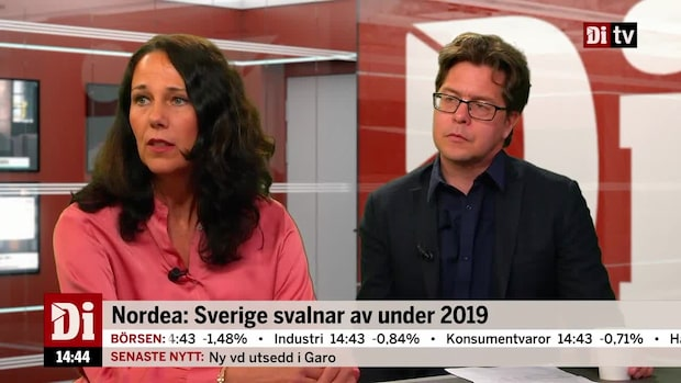 Nordea: Sverige svalnar av under 2019
