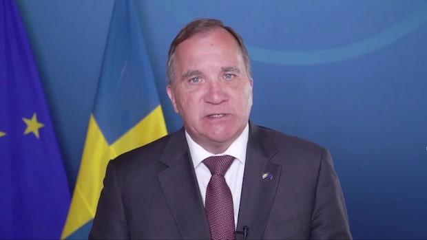 """Stefan Löfvens hälsning till svenska folket: """"Inte som vanligt"""""""