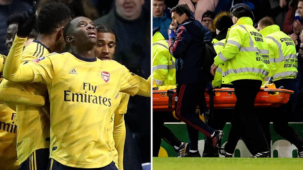 Mardrömsbilderna när Arsenal tog sig vidare